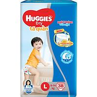 Tã Quần Huggies Dry Pants Jumbo L38 (9 - 14Kg) - Gói 38 Miếng