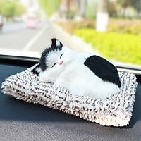Mô Hình Mèo Nằm Ngủ Đệm Than Hoạt Tính