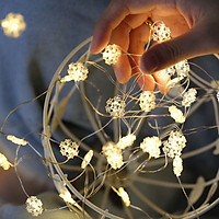 Dây đèn led 30 bóng dài 3m hình Hoa Tuyết trang trí giáng sinh noel phòng ngủ GIVASOLAR-ML3