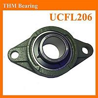 Gối đỡ vòng bi trục kích thước 30mm hình dạng UCFL206,gối đỡ trục ngang