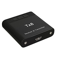 Tx8 2 in 1 Bluetooth 5.0 Transmitter Receiver Audio Adapter for TV PC Headphone MP3/MP4 Music Playback