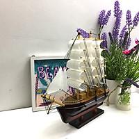 Mô hình thuyền gỗ trang trí Le Belem - thân 25cm