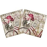Combo 2 Xấp Khăn Giấy Ăn Trang Trí Bàn Tiệc Tissue Napkins Design Ti-Flair 373431 (33 x 33 cm) - 40 tờ