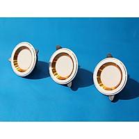 Bộ 3 Đèn led âm trần đổi màu 9w, đèn trang trí phòng ngủ hàng chính hãng
