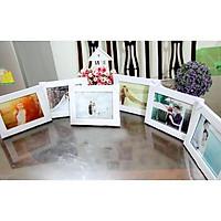 Khung hình MẶT kính 13x18 để bàn đám cưới, kích thước lọt lòng, khung ảnh treo tường dấu đinh B6, đa năng - Có in hình