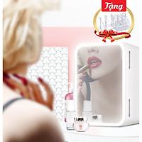 Tủ lạnh đựng mỹ phẩm tặng kèm khay để mỹ phẩm 16 ngăn trong suốt