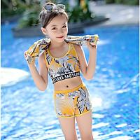 Set đồ bơi chống nắng 3 chi tiết bé gái, phong cách thể thao khỏe khoắn năng động, họa tiết hottrend   BT25
