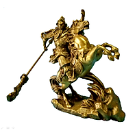 Tượng Quan Công Cưỡi Ngựa Xích Thố bằng Đồng Thau cao 18.5 cm nặng 1200g -Phong thủy mang lại sự thịnh vượng, trí tuệ và tiền bạc trong kinh doanh