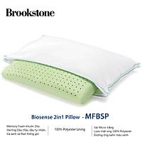 Gối Brookstone  Biosense 2in1 Queen Classic Pillow TEAL