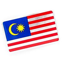 Sticker hình dán metal cờ Malaysia