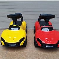 Xe lắc bơi chòi chân ô tô (có nhạc + tựa lưng + thùng chứa đồ)- màu cho bé gái - chọn màu ngẫu nhiên
