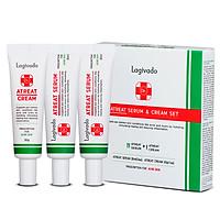 Bộ sản phẩm kem dưỡng ngừa mụn và tinh chất mờ thâm, sáng da, ngừa sẹo Hàn Quốc Quốc Lagivado Dr. Atreat Cream & Serum 90ml