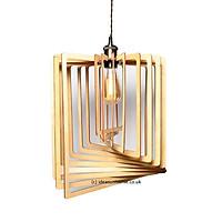 Đèn gỗ thả trần CAO CẤP hiện đại sang trọng 39x49cm chất liệu gỗ trang trí cho phòng khách nhà căn hộ decor nhà quán cafe