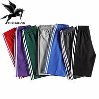 Quần đùi nam thể thao vải co dãn tốt thấm hút mồ hôi mặc thoải mái size 50-80kg