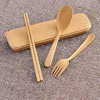 Hộp 3 món đĩa thìa dĩa mang đi tiện dụng