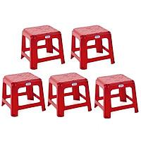 Combo 5 Ghế Lùn Vuông Duy Tân Tiện dụng (29 x 29 x 26 cm) No.H157/F157 - Màu ngẫu nhiên, Ghế nhựa, ghe nhua duy tan, ghế quán ăn vỉa hè, ghế ăn cơm cho cả gia đình