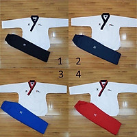 Võ Phục Quyền Taekwondo - Vải Sọc - Đủ Size - Đủ Màu