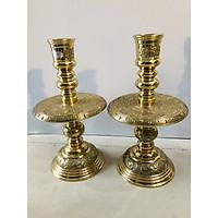 Cặp nến thờ cúng bằng đồng cao 30cm
