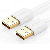 Cáp tín hiệu USB 2.0 2 đầu đực đầu mạ vàng 24k dài 0.5M màu trắng UGREEN USB30131Us102 Hàng chính hãng