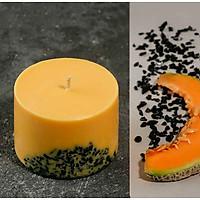 Nến thơm sáp đậu nành cao cấp khảm đá tự nhiên, mùi hương tươi mát của cam, chanh.