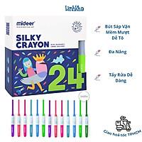 Bộ Bút Sáp Vặn 24 Màu Mềm Mượt Cho Bé Tập Vẽ - Mideer silky crayon 24 colours