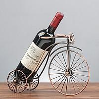 Kệ Để Rượu - Giá Để Rượu Vang Hình Xe Đạp 3 Bánh To Đặt Bàn Mẫu Mới 2020 Cao Cấp