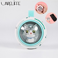 Uareliffe Hand Warmer Cute Space Cat Design Mini Portable Hand Warmer Power Bank With LED Breathing Lamp Rechargeable Travel Home Hand Warmer For Girls