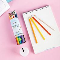 Bút chì màu nước cao cấp dạng cốc Deli - 12 / 24 / 36 / 48 màu - Kèm cọ và gọt theo ống màu - Phù hợp cho cả chuyên nghiệp và nghiệp dư - 68129/ 68130/ 68131/ 68132
