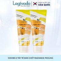 Combo 2 Tẩy tế bào chết Hàn Quốc Lagivado làm sạch tế bào chết da mặt, body nhẹ nhàng, giúp da sáng mịn Radiance Peeling 50 ml