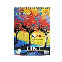 Tập Giấy Vẽ Màu Dầu Định Lượng 200gr 12 Tờ (ARTIST-OP)