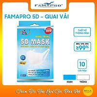 Combo Khẩu trang y tế kháng khuẩn 3 lớp Famapro 5D quai vải [ Hộp 10 cái ]