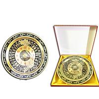 Đồng hồ bản đồ Việt nam khắc chữ S tinh xảo 54 cm
