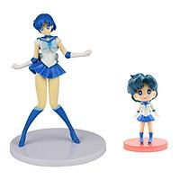 Bộ 02 mô hình thủy thủ mặt trăng - Sailor Mercury (Xanh dương)