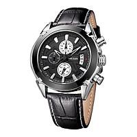 Đồng hồ đeo tay nam thời trang mới mang thương hiệu Megir dây da chính hãng 3 mặt số nhỏ