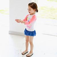 Bộ bơi dài tay Very chân váy xanh bé gái từ 2 đến 10 tuổi