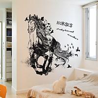 Decal dán tường trang trí ngựa HORSES phòng khách phòng ngủ MÃ ĐÁO THÀNH CÔNG