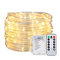 12M/39.4Ft 7.2W 120 LED Rope Light Multi-color Battery Powered Operated with Remote Control Combination In wave
