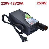 Bộ chuyển đổi nguồn 220V sang 12V-20A công suất 250W - Đầu dạng cắm tẩu - Mã: DOS-1225