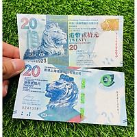 Combo 2 tờ Tiền Hồng Kông 20 Dollar, ngân hàng HSBC phát hành 2 mẫu khác nhau, mới 100%, tặng túi nilon bảo quản