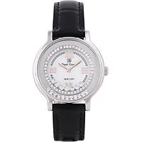 Đồng hồ nữ chính hãng Royal Crown 3638 dây da đen