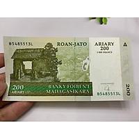 [TIỀN SƯU TẦM] Tiền cổ Madagascar 200 sưu tầm - ở châu Phi - tặng phơi nylon bảo quản tiền