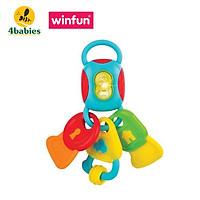 Chìa khóa đồ chơi phát nhạc kiêm gặm nướu Winfun 0185, nhựa cao cấp an toàn cho bé - tặng đồ chơi tắm 2 món