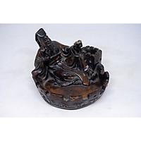 Gạt tàn thuốc lá hình Tần Thủy Hoàng bằng đá