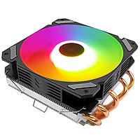 Quạt tản nhiệt CPU Coolmoon T500x 5 ống đồng tản nhiệt, Led RGB đảo màu tự động - Hàng nhập khẩu