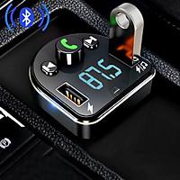 Củ Sạc Nhanh Kiêm Máy Nghe Nhạc Mp3 Đầu USB Bluetooth 5.0 Đa Năng Chất Lượng Cao Cho Xe Hơi