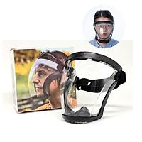 Kính che mặt bọc da viền đen kính kháng hơi có lỗ thoát khí , ngăn giọt bắn , ngăn bụi , ngăn hóa chất cao cấp