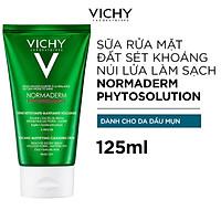 Sữa Rửa Mặt Tạo Bọt Từ Đất Sét Và Đá Khoáng Núi Lửa Giúp Làm Sạch Và Kiểm Soát Dầu Hiệu Quả Vichy Normaderm Phytosolution Vocanic Mattifying Cleansing Cream 125ml