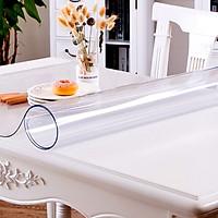 Khăn trải bàn PVC dẻo, làm vách chắn, cửa cuốn, màu trắng trong suốt, Chống thấm nước, Chống thấm dầu, Chống trượt, Trải bàn ăn, bàn khách, tivi dày 1.0mm
