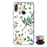 Ốp lưng điện thoại Asus Zenfone Max Pro M2 hình Hoa Xanh tặng kèm giá đỡ điện thoại iCase xinh xắn - Hàng chính hãng