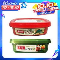 Combo 1 Hộp Tương Ớt Gochujang Taeyangcho 200G và 1 Hộp Tương Chấm Thịt Nướng Ssamjang CJ 170G